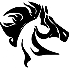 tribal horse head silhouette. Contemporary Silhouette Horse Head With Messy Mane Side View Free Icon Inside Tribal Head Silhouette E
