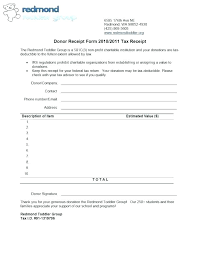 Sample Donation Form Charity Donation Form Template Charitable Receipt Free Word