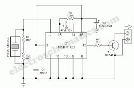 vibration sensor detector circuit vibration sensor circuit schematic
