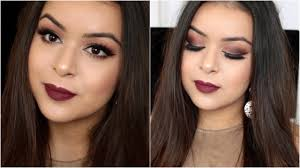 romantic sultry date night party makeup tutorial soft smokey eye bold red lip 2016 you