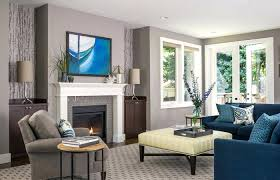 Blue Gray Color Scheme For Living Room