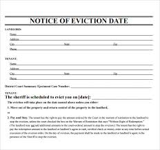Free Eviction Notice Template Sample Eviction Notice Form Free 38 Eviction Notice Templates In Pdf Doc Apple Pages