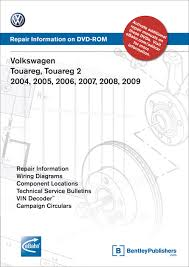 volkswagen touareg 2004 2007 repair manual on dvd rom front cover