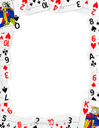 Printable Playing Card Playing Cards Clipart Border
