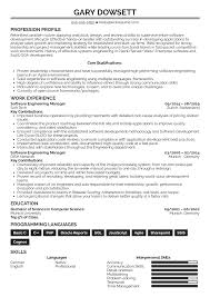 Engineering Skills Resume Resume Examples By Real People Software Engineering Manager
