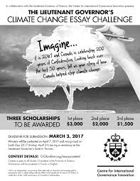 lieutenant governor s climate change essay challenge sole  lg essay contest poster