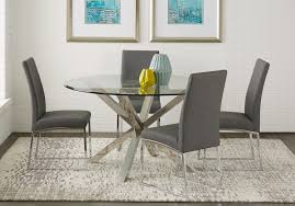 Round dining table set Glass Shop Now The Tasting Room Round Dining Room Sets