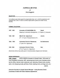 Sample Resume Objectives Samples Of Resumeses Job General Sample Curriculum Vitae Careere 58