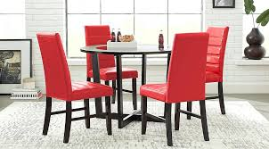 Red dining table set Modern Picture Of The Dining Room Set Red Dark Walls White Black Dieetco Red Dining Room Dieetco