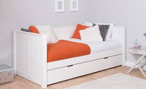 double beds for teenagers. Modren Beds Stompa CK White Day Bed With Trundle For Double Beds Teenagers D