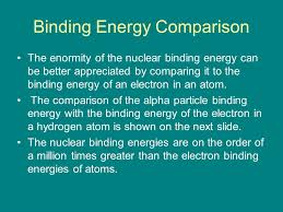 binding energy comparison