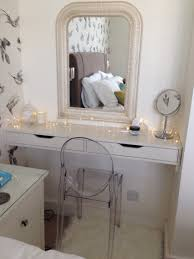 ikeax makeup desk hack ekby shelf with kolja mirror and dioder lights dressing table ikea alex