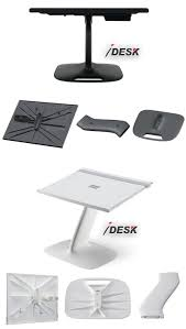portable laptop stand table lap desk in white black lapdesk for macbook business travel home office gamer wheelchair car school