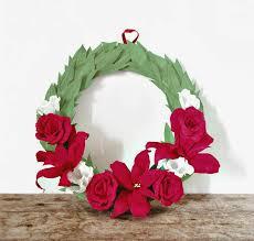 Christmas Paper Flower Wreath Paper Diys