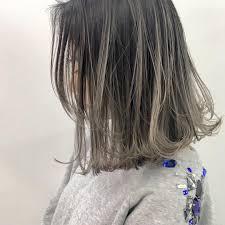 メッシュのヘアカラーおすすめスタイル2018秋冬今季はクールビューティ