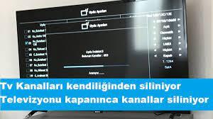 Televizyon kapanınca kanallar siliniyor sorunun çözümü » 0541 762 2252