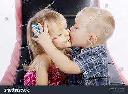 Cute Boy Girl Kissing Passionately Stock Photo 124280134 .