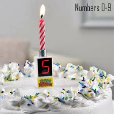 Musical Happy Birthday Candle Led 0 9 Digital Number Cake Topper