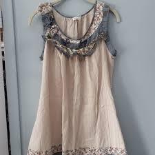 Anthropologie Dress Size Chart Anthropologie Blu Pepper Boho Dress Measurements Depop