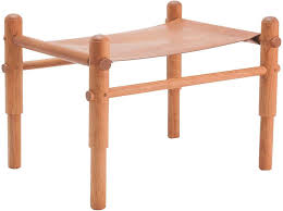 leather sling stool locust leather sling stool