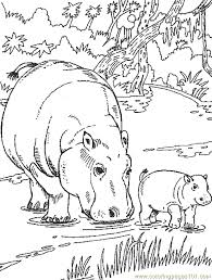 Small Picture Hippo Coloring Page 04 Coloring Page Free Hippopotamus Coloring
