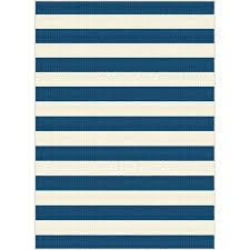 8 x large navy blue stripe indoor outdoor rug garden city furniture rugs 8x10 sams