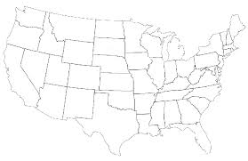 Blank Us Map Quiz Printable At Fill In The Of United States. Can ...