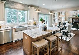 chicago white granite countertops kitchen transitional with allen roth