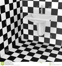 Bathroom Tiles Black And White Pattern Stock Illustration
