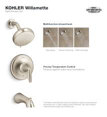 willamette tub and shower faucet in vibrant brushed nickel