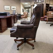 brown leather office chairs. Used Hooker Leather Executive Office Chair Brown CHE1538003 Chairs