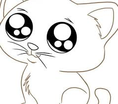 Small Picture Coloring For Kids Cute Kitty Coloring Pages Fresh At Model Animal