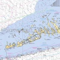 Florida Key West Lower Keys Close Up Nautical Chart