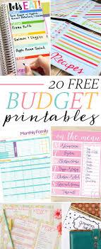 Free Printable Budget 20 Free Budget Printables Savor Savvy