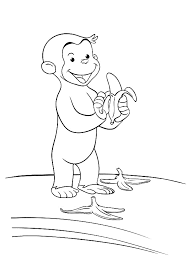Curious George Coloring Pages Free Printable Coloring Page For Kids