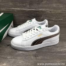 puma basket classic leather white rose gold laser men women shoes puma suede