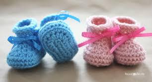 Crochet Booties Pattern Extraordinary Crochet Newborn Baby Booties Pattern Repeat Crafter Me