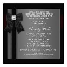 Corporate Black Tie Event Formal Template Events Invitations