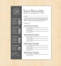 Designer Resume Templates Design Resume Template Resume Template Sara Reynolds Writing 3