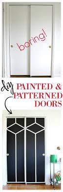 painted closet door ideas. Sliding Closet Doors Makeover | Painted Door Ideas Interior