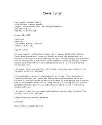 Construction Proposal Letter Sample Proposal Cover Letter Sponsorship Proposal Cover Letter