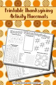 3 different coloring thanksgiving placemats for kids are here! Free Thanksgiving Placemat Printable For Kids