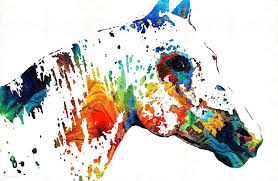 colorful horse paintings animal painting colorful horse art wild paint by by colorful horse head paintings