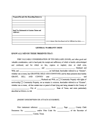 General Warranty Deed Form Templates - Fillable & Printable Samples ...