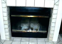 fireplace doors with blower glass
