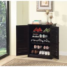 Shelf Shoe Cabinet Darby Home Co Polton Louvre 20 Pair Shoe Storage Cabinet Reviews