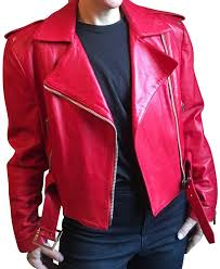 michael hoban red for north beach leather jacket
