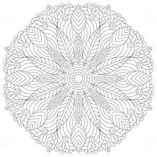 Mandala Kleurplaat Ontwerp Van De Pagina Van Het Boek Bloem