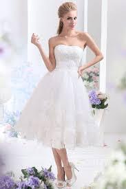 dreamy a line sweetheart tea length tulle wedding dress cwla13003