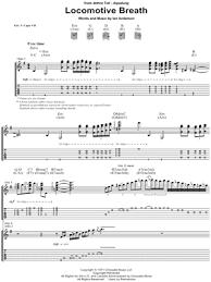 locomotive breath piano sheet music